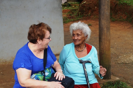 Wendy and 88-year old Village elder, Mole (Molly)
