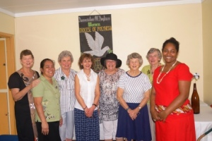 AAW members, together, meeting and sharing at the House of Sarah