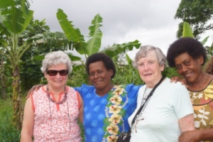 Some of our AAW members, Carlene and Elizabeth, together with Fijian members at the Tin Cathedral