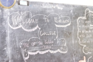 On the blackboard as we entered the classroom