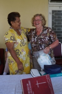 Our wonderful Nurse Adele donates medical supplies and equipment to the Bible College