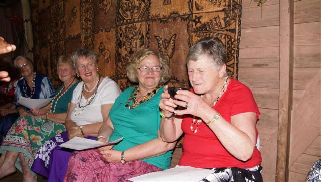 """Its ok Muriel!"" Golden Oldies being honoured with a traditional Kava ceremony in a village"