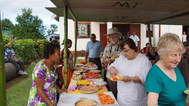 Fiji hospitality, with delicious tropical fruits always on the menu