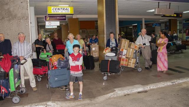 A miracle! All 11 boxes arrived with us in Fiji on our flight