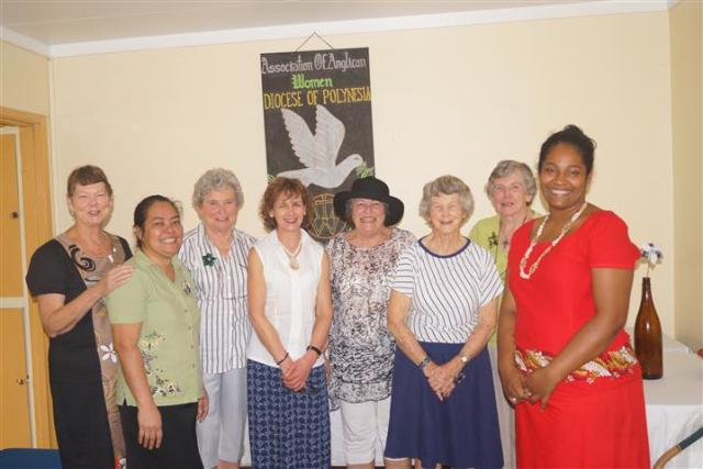Golden Oldies ladies from 2013 team along with the ladies from the House of Sarah. Carelene second from left; Elizabeth second from right}