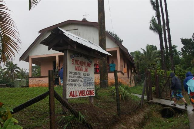 Village people donated $1.50 per week over many years to build their village church