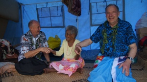 Graeme and Roger meet the elderly widow whom, the first house is being built for