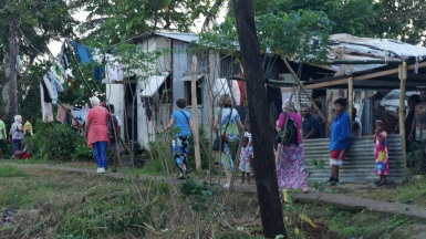 Tonight walking through a squatter village to be hosted by the village church community